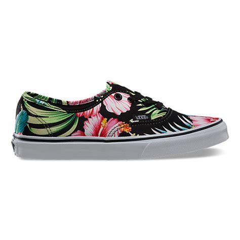 hawaiian floral authentic shop shoes at vans