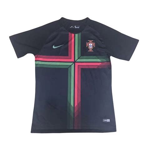 Jersey Portugal portugal 2018 world cup pre match black shirt soccer