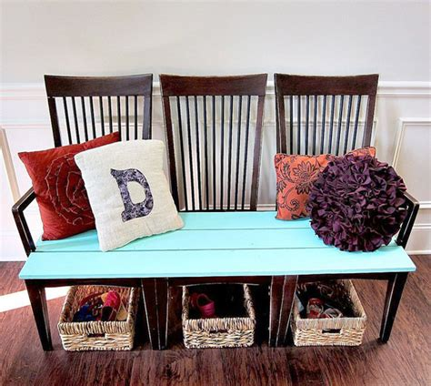 chairs into bench decorating ideas using everyday objects the budget