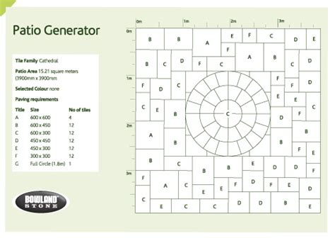 roster pattern generator bowland stone bowland stone patio generator and laying
