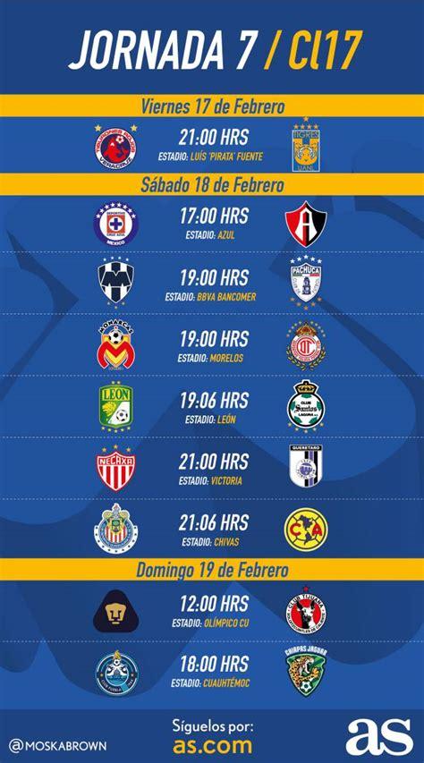 Calendario De Futbol 2017 Fechas Y Horarios De La Jornada 7 Clausura 2017 De La
