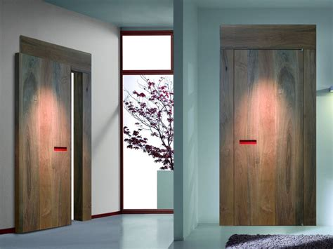 Interior Hardwood Doors Innovative Interior Wooden Doors With No Handle Opening System Digsdigs