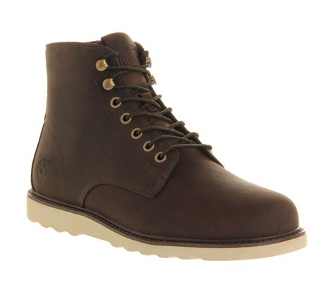 timberland ek newmarket wedge boot in brown for black