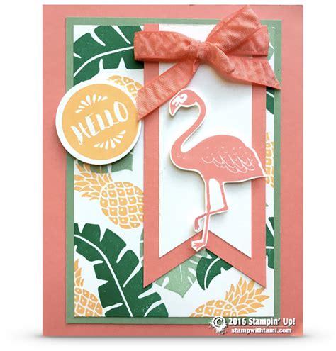 card paradise card flirty flamingo pop of paradise stin up