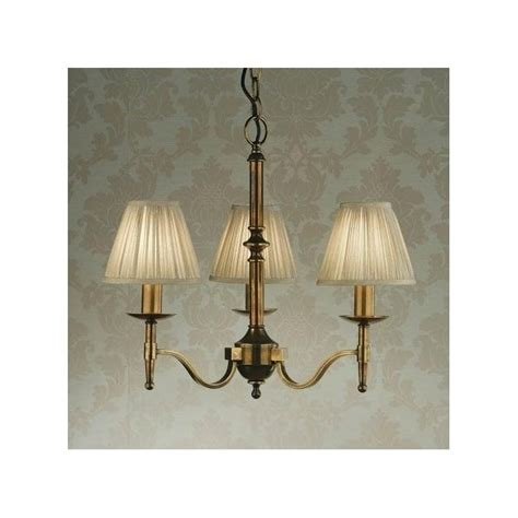 Interiors 1900 Stanford by Interiors 1900 Stanford 3 Light Antique Brass Chandelier