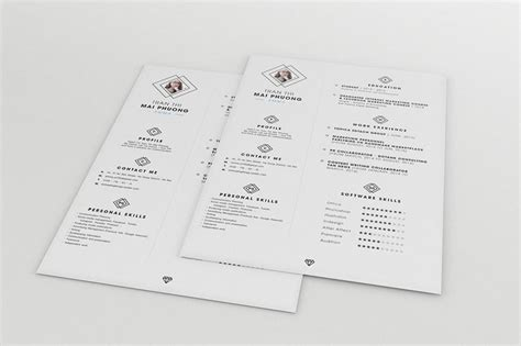 resume template psd ai best free clean resume templates in psd ai and word docx