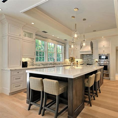 kitchen island spacing beautiful kitchen with large island house home