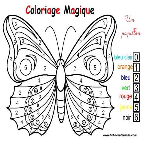 Coloriage Magique Un Papillon 224 L Int 233 Rieur Coloriage Coloriage Magique A Imprimer Gratuit Maternelle L