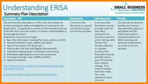 summary plan description template template design