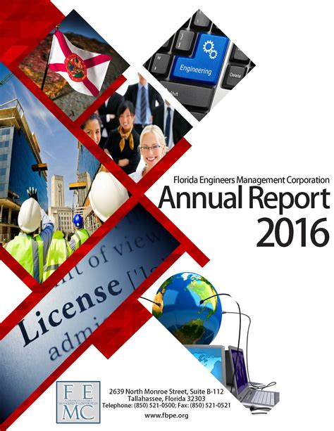 annual report cover page design sles annual reports florida board of professional engineers