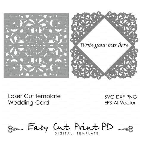 Free Wedding Gate Fold Card Template Silhouette by Lace Wedding Invitation Card Template Folds Svg Dxf Dwg
