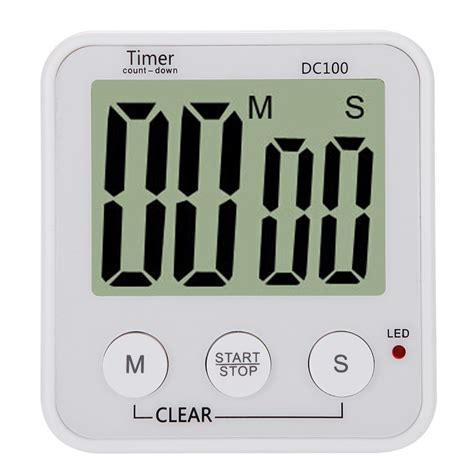 Digital Count Timer Jp9913 lcd digital cooking kitchen countdown timer alarm count sales white tomtop
