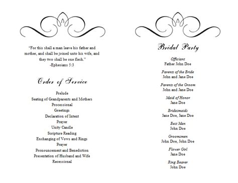 Program Template wedding program templates word wedding program templates