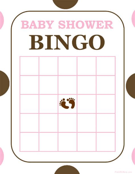 baby bingo card template free and printable baby shower bingo card baby shower ideas