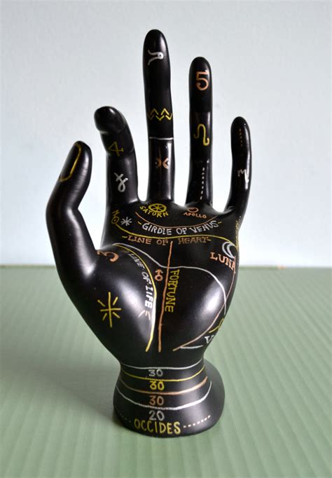 tattoo hand ring holder palmistry jewelry display hand painted ring holder jewelry