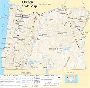 oregon state map a large detailed map of oregon state usa
