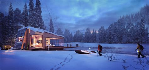 winter cottage winter cottage visualisation of a mountain retreat xoio