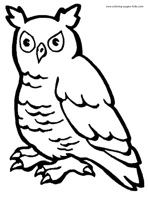 wise owl coloring page wise owl color page
