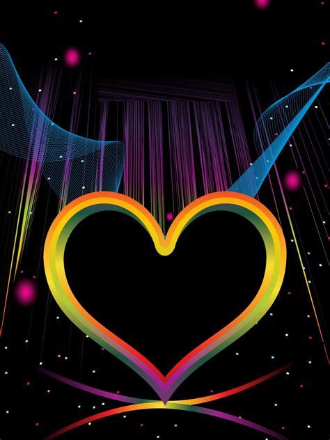 colorful love wallpaper colorful hearts wallpaper wallpapersafari