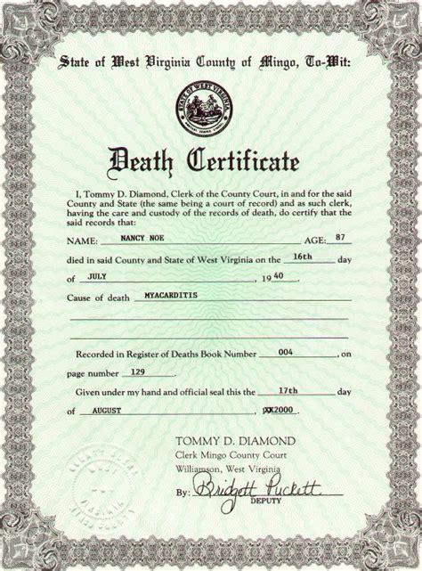 graphic design certificate virginia virginia death certificate sle gallery certificate