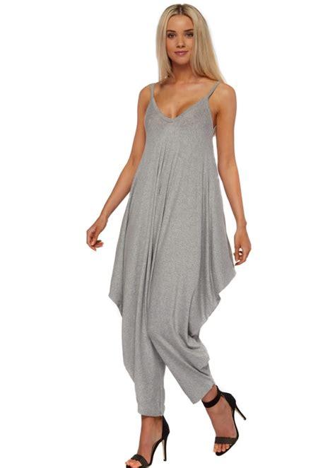 Jumpsuit Greya zinka grey harem jumpsuit casual comfy jumpsuit