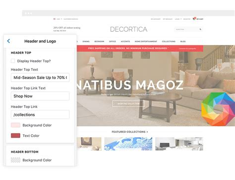 shopify themes responsive 2015 decortica responsive shopify template halothemes com