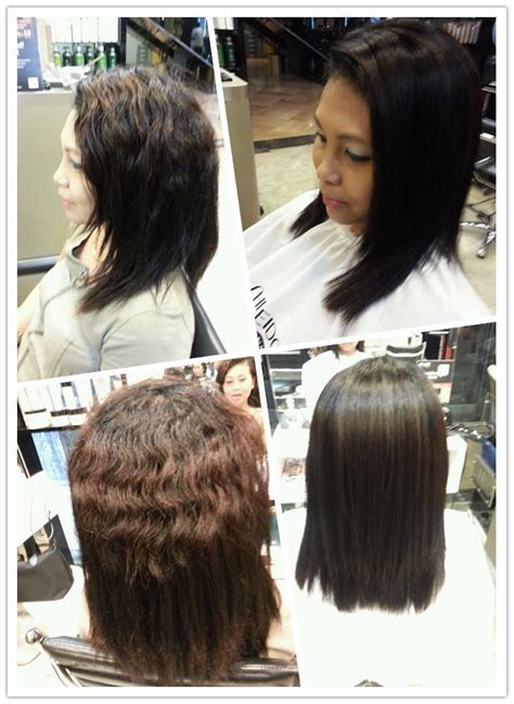 rebonding hair short cut differences between soft rebonding vs volume rebonding vs