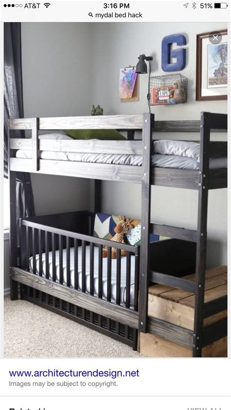 Crib Loft Bed 1000 Ideas About Bunk Bed Crib On Toddler Bunk Beds Bedroom And Shared Rooms