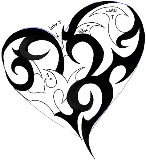 tribal pattern heart how to draw a tribal heart tattoo design in easy steps