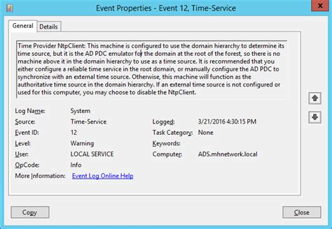configuring ad server  sync time  external ntp