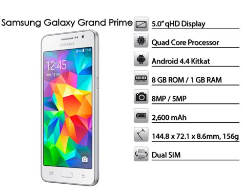 samsung grand prime new themes brand new samsung galaxy grand prim 8gb 8mp single sim