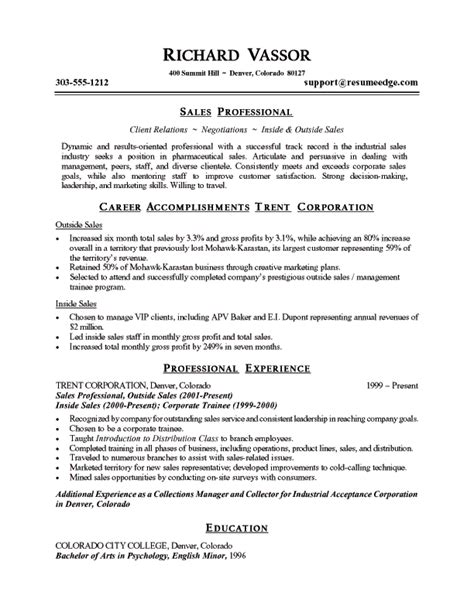 resumes sles sle sales resume