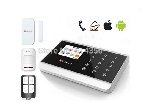 iphone android app wireless gsm home security system wireless home alarm kit panic button system