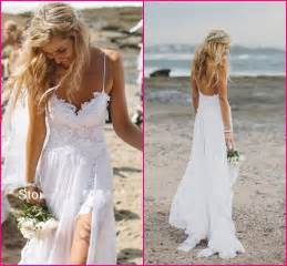 Buy stunning vintage boho white beach low back wedding dresses gowns