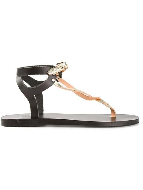 ancient sandal ancient sandals ismene sandal in black metallic lyst