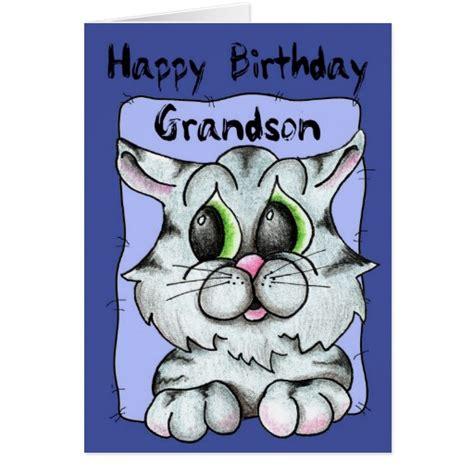 printable birthday cards grandson happy birthday grandson greeting card zazzle