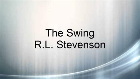 the swing by rl stevenson poem the swing r l stevenson doovi