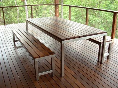 Stainless Steel And Wood Outdoor Furniture by Manufactured Outdoor Furniture