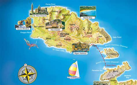 ta bay map sicheres tauchen in gozo mit unserer gozo karte