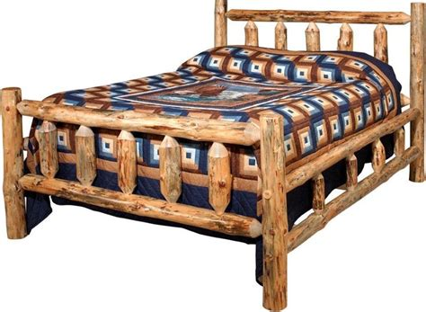 Bed With Poles Amish Lodge Pole Log Bed
