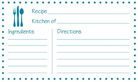 8 Best Images Of Free Printable 3x5 Recipe Cards Printable Recipe Cards 4x6 Free Free Recipe Card Template