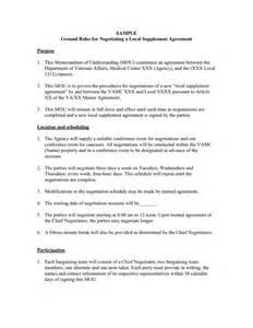 Memo Of Understanding Template by Memorandum Of Understanding In Word And Pdf Formats