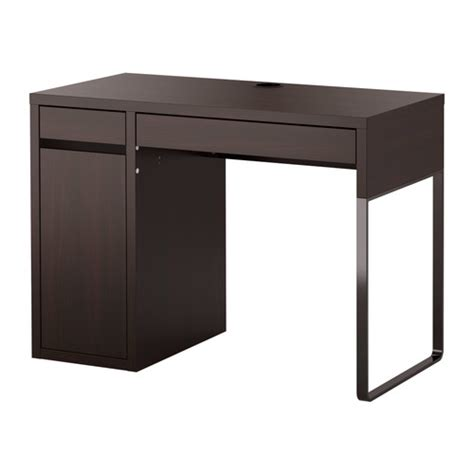 Small Pc Desk Ikea Micke Bureau Brun Noir Ikea