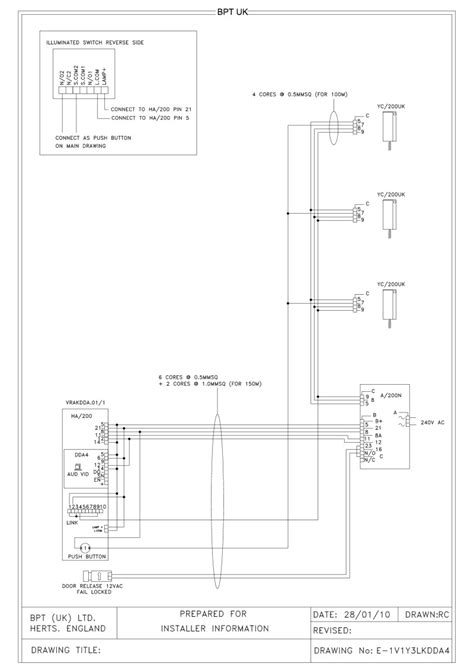 bpt intercoms wiring diagrams home telephone wiring