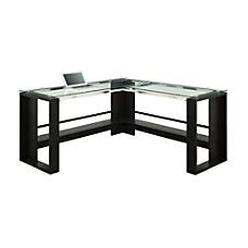 realspace mezza straight desk corner l shaped desks at office depot
