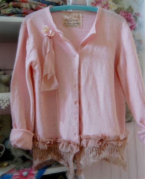 Pink Sweater Wool Womens Clothing Shabby Chic Medium Vintage Shabby Chic Pajamas