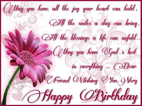 dear friend wishing you a happy birthday wishbirthday