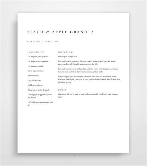 Recipe Book Template Printable Recipe Binder Family Cookbook Family Recipe Cookbook Template
