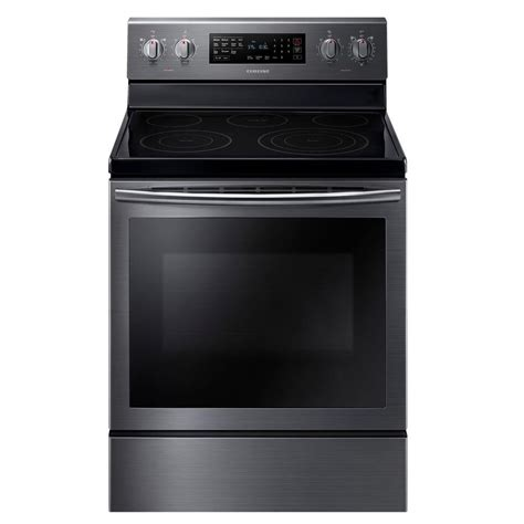 Samsung Oven Samsung 30 In 5 9 Cu Ft Electric Range With Self Cleaning Convection Oven In Black Stainless