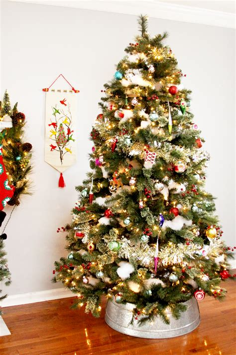 traditional style christmas tree and mantel